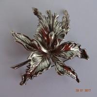 Századfordulós ötvös ezüst bross