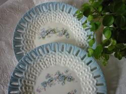 Antik, nefelejcses fajansz tányér