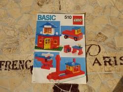 Lego 510 építési mutató szép állapotban
