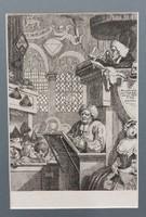 """""""Szószékről"""" metszet, 19.sz., paszpartuban"""