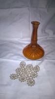 Borostyán színű biedermeier art deco üveg biedermeier likőrös üveg