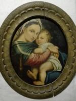 Raffaello Santi , Madonna della Seggiola ,   olajfesték, fémlemezen,