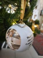 Karácsonyi gömb dísz Goebel porcelán limitált 2018-as kollekcióból