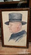 Baday akvarell 1918-ból eladó