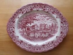 Grindley angol porcelán ovális kínáló tál 25 x 31 cm