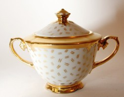 Porcelán cukortartó Drashe