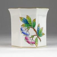 0U397 Régi kisméretű Herendi porcelán váza