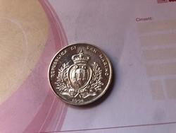 1994 San Marino ezüst 1000 líra Ritka
