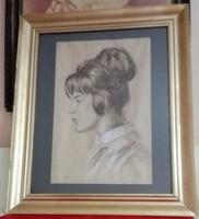 Tsuguji Foujita: Francia hölgy portréja