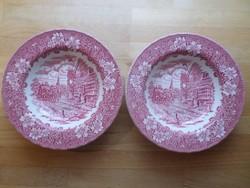 Staffordshire angol porcelán tányér mélytányér pár
