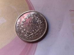 1966 ezüst Francia 10 frank 25 gramm 0,900 gyönyörű darab