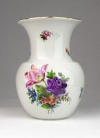 0U415 Régi Herendi virágmintás váza 14.5 cm