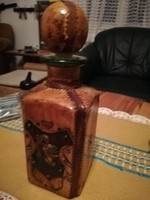 Bőr borítású kézműves palack