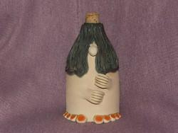 Kerámia figura, butykos, váza
