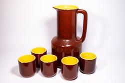 Gránit mázas kerámia italos készlet