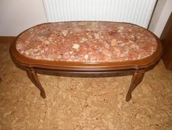 Neobarokk márványlapos asztal