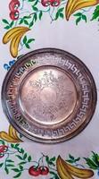 Nagyon szép ezüst lapos kínáló tál (2) HM mesterjeggyel jelzett