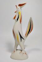 Art deco kézzel festett porcelán kakas  Drasche