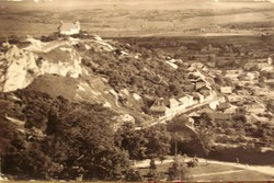 MAGYAR - Pécs ,Tettye látképe Havihegyi templom 1955       RK