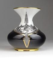 0U419 Hollóházi Jurcsák László porcelán váza 10 cm