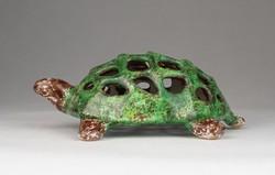 0U394 Régi kerámia teknős füstülő tartó