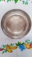 Nagyon szép ezüst lapos kínáló tál (1) HM mesterjeggyel jelzett