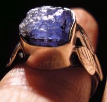 925 ezüst gyűrű, 18/56,5 mm, tanzanit rög
