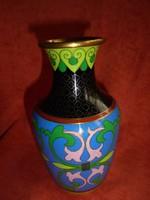 Régi zománcos váza