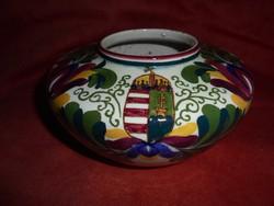 Nagyon ritka címeres Fischer Emil porcelán váza