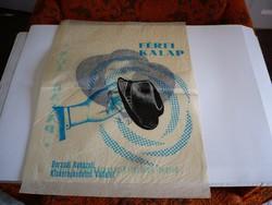 Nagyméretű papirzacskó - kalapreklám