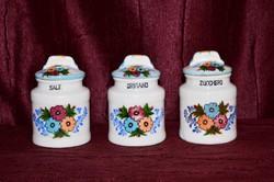 3 db porcelán fűszertartó  ( DBZ 0065 )