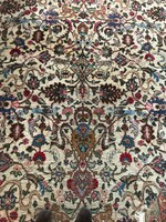 Antik Tabriz perzsaszőnyeg, un. vadászszőnyeg gyönyörű mintával, 2,3 x 3,3 m
