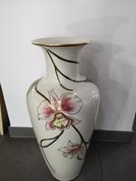 RENDKÍVÜLI AKCIÓ!!! Gyönyörű Zsolnay óriás (66cm) padlóváza orchideás, hibátlan!