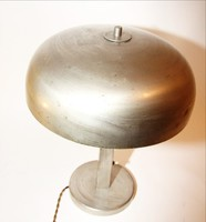 Art deco lámpa ezüstözött fém