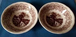 Antik, 2 db müzlis, salátás tál, olasz, Ironstone Tableware Patentid