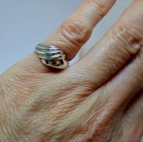 Különleges modern tömör ezüst gyűrű
