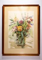 Virág csendélet akvarell