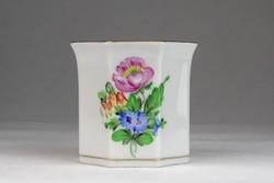 0U482 Herendi porcelán virágmintás cigaretta tartó