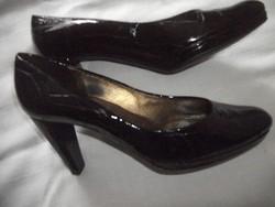 Karácsony szilveszter party designer  alkalmi cipő 39 Kennel Schmenger mély padlizsán lila lakkbőr