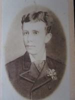 Eredeti CVD fotó RUDOLF KORONA HERCEG HABSBURG trónörökös KUK 1875 KEMÉNYHÁTÚ FOTÓ FOTÓGRÁFIA BÉCS