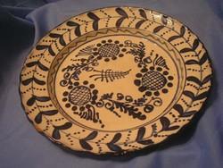 N1 Erdélyi antik Nagyváradi nagy faltál ritkaság szép állapotban 29 cm