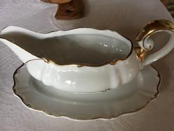 Antik Sorau Karstens porcelán, szószos
