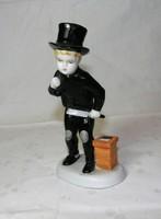 Kéményseprő Metzler & Ortloff porcelán figura