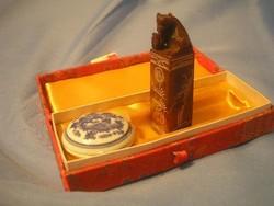 N1 Chinai fó kutyás új pecsétnyomó dobozában + viasz festék ajándékozható bizalmas levelezésekhez is