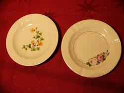 A01 2db Ilmenau porcelán hamutál, hamuzó virágos
