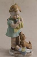 Bertram kislány kutyával és babával