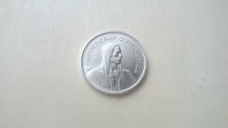 Svájci ezüst 5 frank 1967. Verdefényes.
