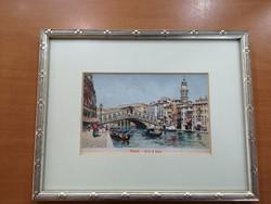 20. század eleji velencei képeslap igényesen keretezve kiváló állapotban