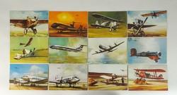 0U479 Malév repülőgépes képeslapok 12 darab