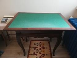 Neobarokk zárható fiókos kártyaasztal